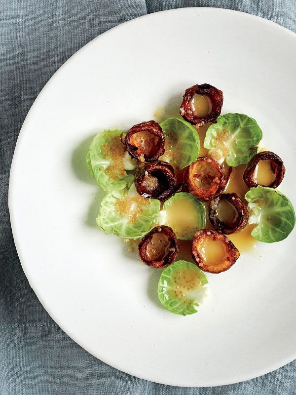 brussels sprouts potato cups beurre blanc