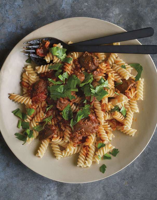Fusilli with Spicy Chicken Liver Sauce
