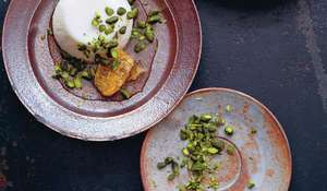 Orange Blossom and Milk Pudding with Honeycomb and Pistachios Recipe | Ducksoup Cookbook