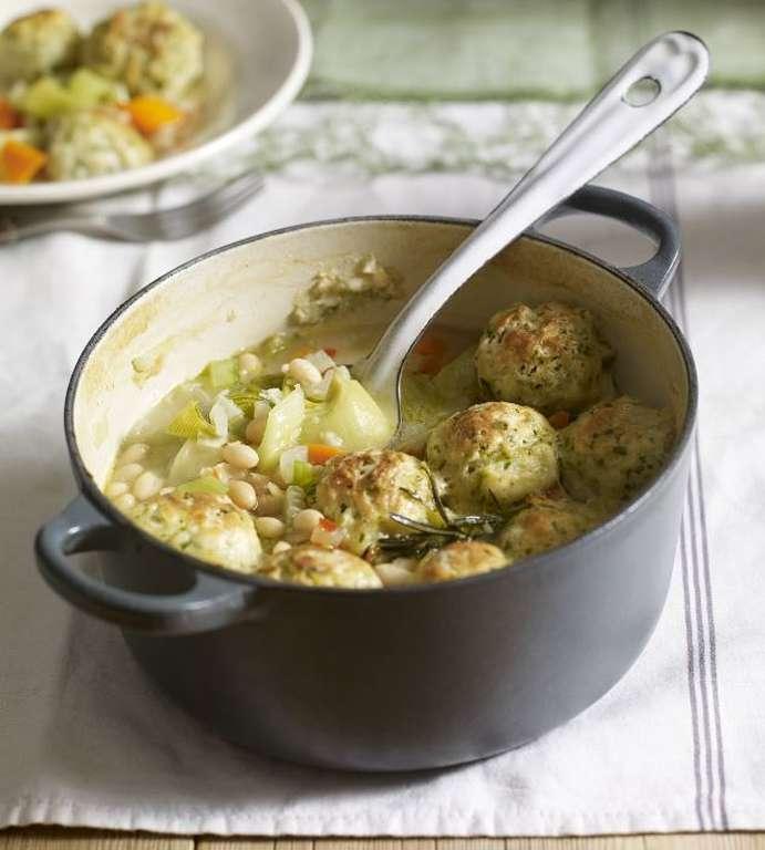 Vegetable Casserole with Dumplings
