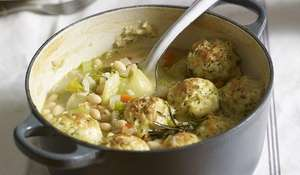 Slow-cooked Vegetable Casserole with Dumplings
