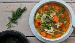 Melissa Hemsley's Shredded Chicken, Carrot & Dill Soup | Easy Chicken Soup Recipe