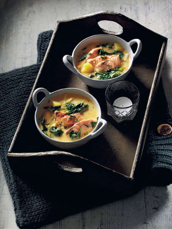 Swedish Salmon, Potato and Dill Soup