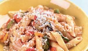 Penne Pasta with Roasted Veg and Tomato | Eat Well for Less
