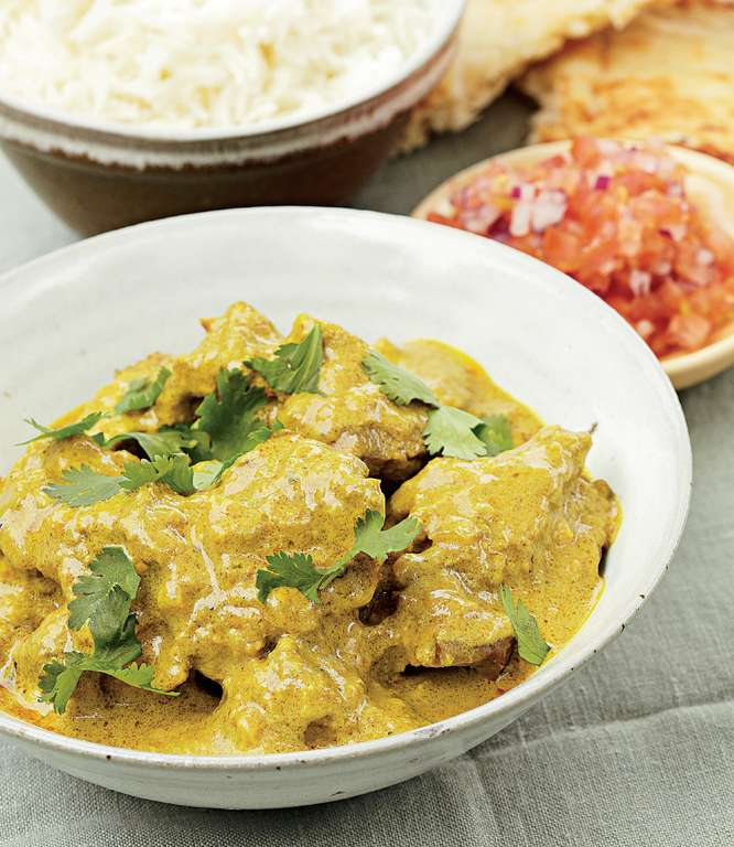 Curried Mutton with Green Chilli and Almonds