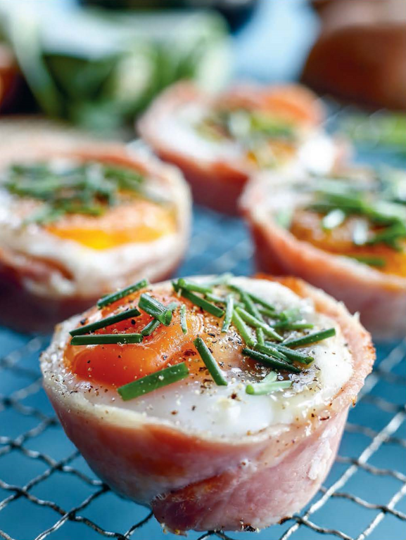 Egg, Bacon, Mushroom & Chive Cups
