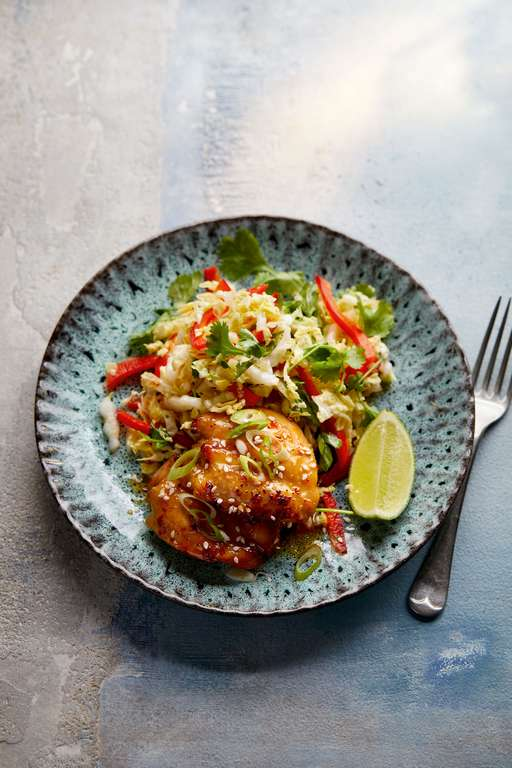 Eat Well For Less Asian-style Sticky Chicken with Chinese Leaf Salad