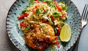 Asian-style Sticky Chicken with Chinese Cabbage Recipe | Eat Well For Less