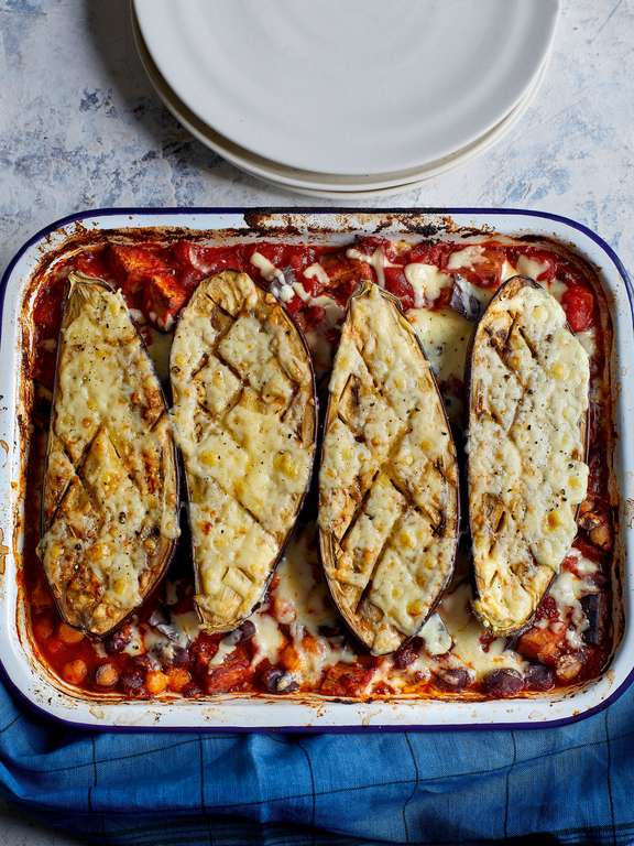 Eat Well For Less Aubergine Chilli Traybake