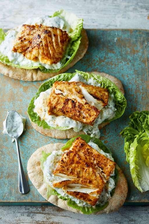 Eat Well For Less Grilled Cod Tikka with Cucumber Yoghurt
