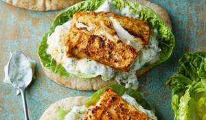 Grilled Cod Tikka with Cucumber Yoghurt Recipe | Eat Well For Less BBC 1