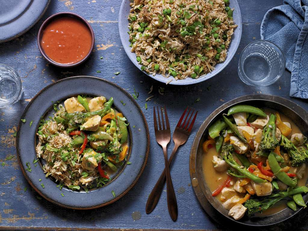 Sweet and Sour Plum Chicken with Egg Fried Rice