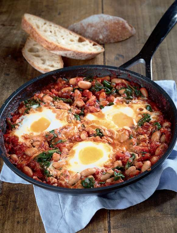 Tomato and Spinach Baked Eggs