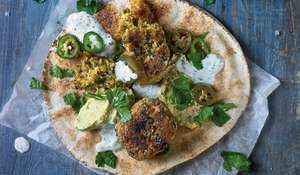 Falafel with Creamy Garlic Sauce & Avocado Hummus