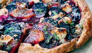 Palestinian Beetroot and Feta Galette with Za'atar and Honey