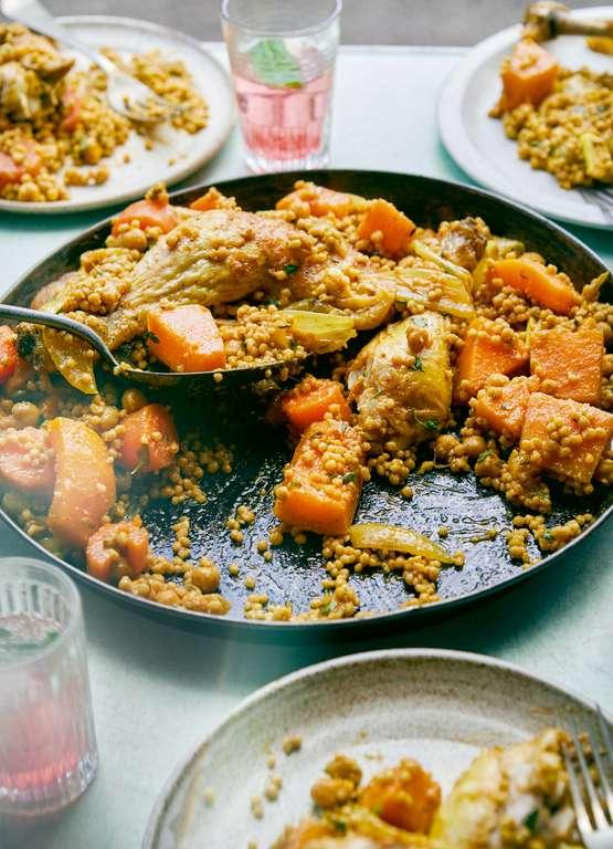 Fragrant Palestinian Couscous - Maftoul