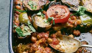 Sami Tamimi Aubergine Bake |Easy Vegan Traybake