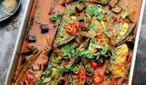 Malaysian Fish Curry with Tomato and Okra