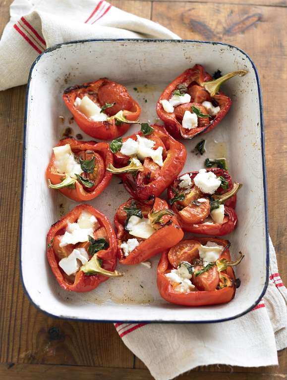 Simple Stuffed Roast Peppers