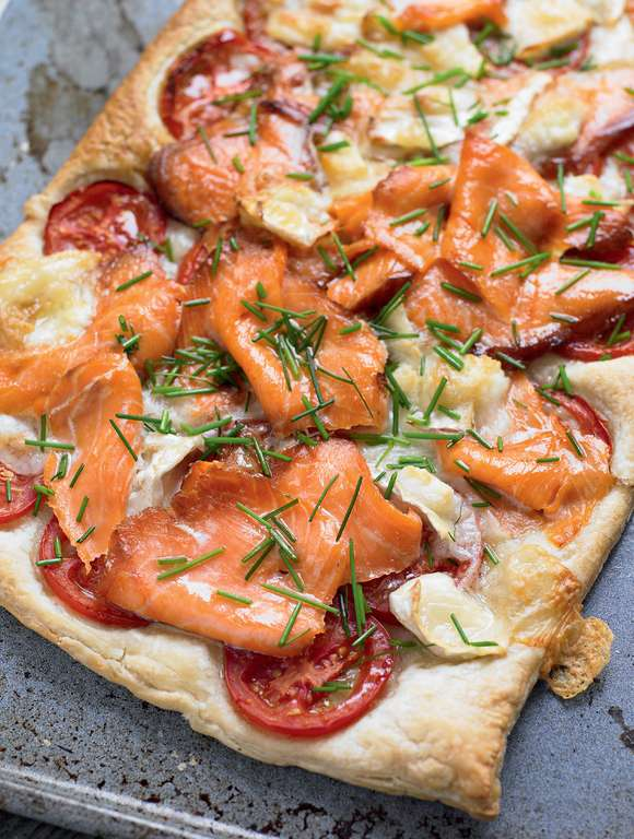 Quick Salmon and Goat's Cheese Tart