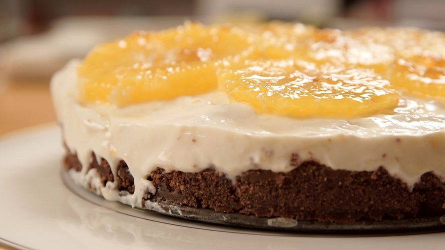 Chocolate Orange Cheesecake from The A-Z of Cooking