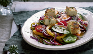 Big Fat Greek Salad with Jassy's Fried Feta from Five