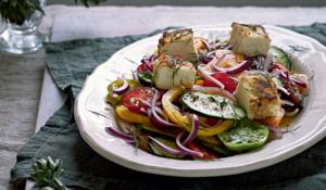 Big Fat Greek Salad with Jassy's Fried Feta from Five