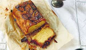 Caramelised Fig, Almond and Polenta Loaf Cake Recipe