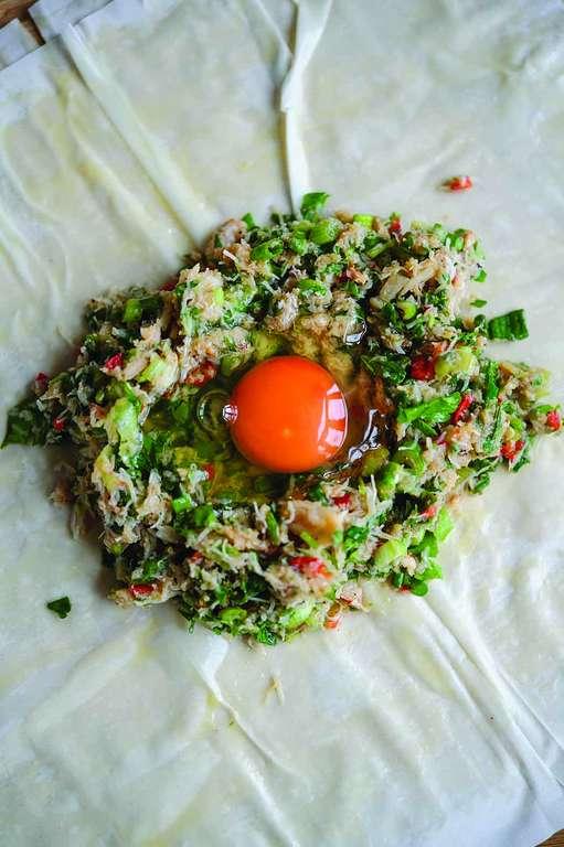 Crab and Egg Brik