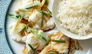 Steamed Monkfish with Wild Garlic and Ginger | Rick Stein Fish Recipes