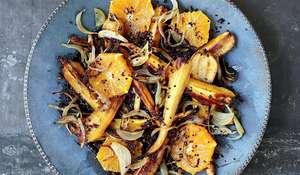 Honeyed Parsnip Quinoa with Chilli, Cardamom and Orange