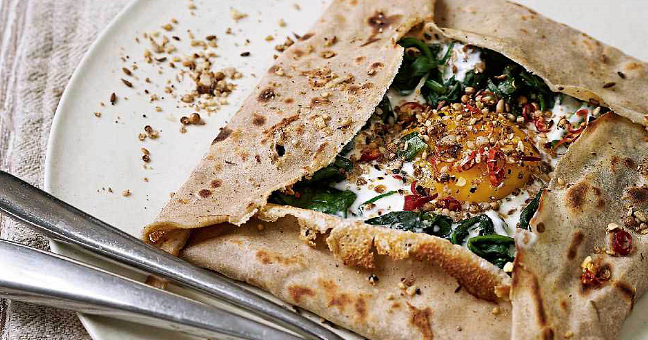 Turkish Spinach Galette - The Happy Foodie