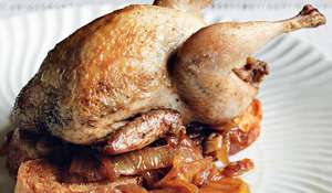Quail with Caramelized Onions and Brandy (codorniz al brandy)
