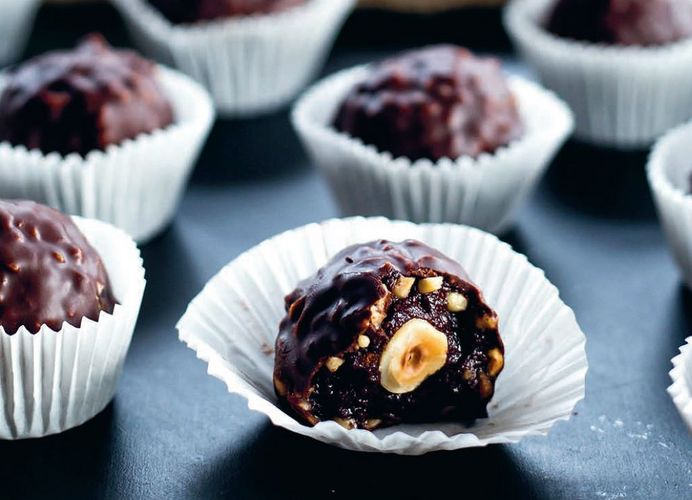 Chocolate and Hazelnut Truffles from The Foodie Teen cookbook