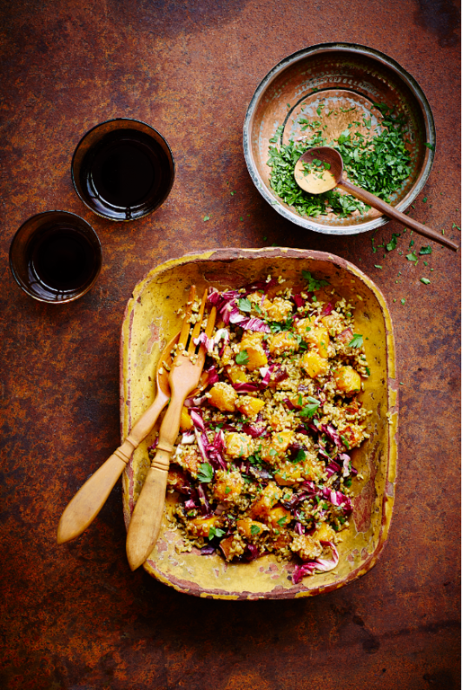 Freekeh Sweet and Spicy Warm Salad