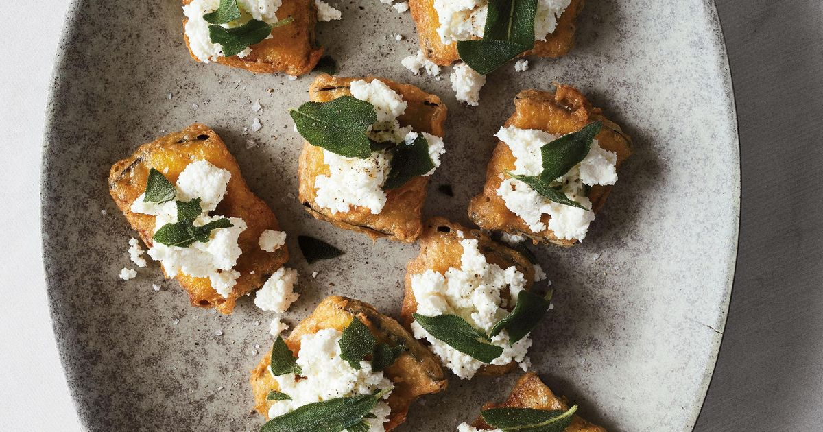 Deep Fried Aubergine With Ricotta And Sage Starter Recipe
