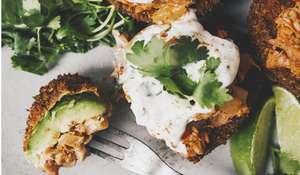 Vegan Fried Avocado with Jackfruit Recipe | Tinned Jackfruit Recipe