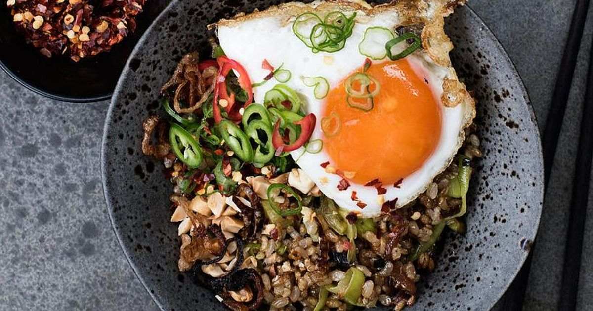 Caravan's Fried Brown Rice with Brussels Sprouts, Fried ...
