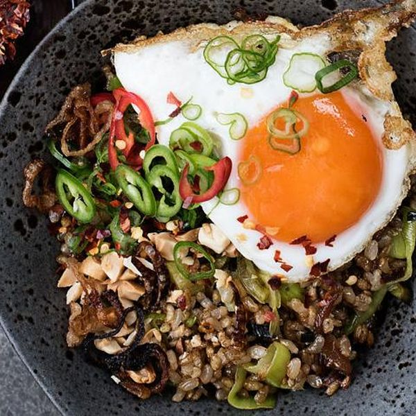 Caravans fried brown rice with brussels sprouts fried eggs greens fried brown rice with brussels sprouts fried eggs greens and chilli ccuart Gallery