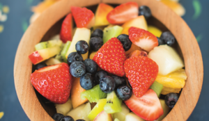 Fruit Salad with Sweet Tahini Sauce