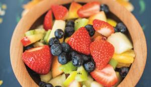 Fruit Salad with Sweet Tahini Sauce