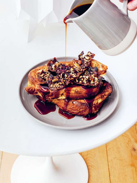 Baked French Toast with Candied Bacon