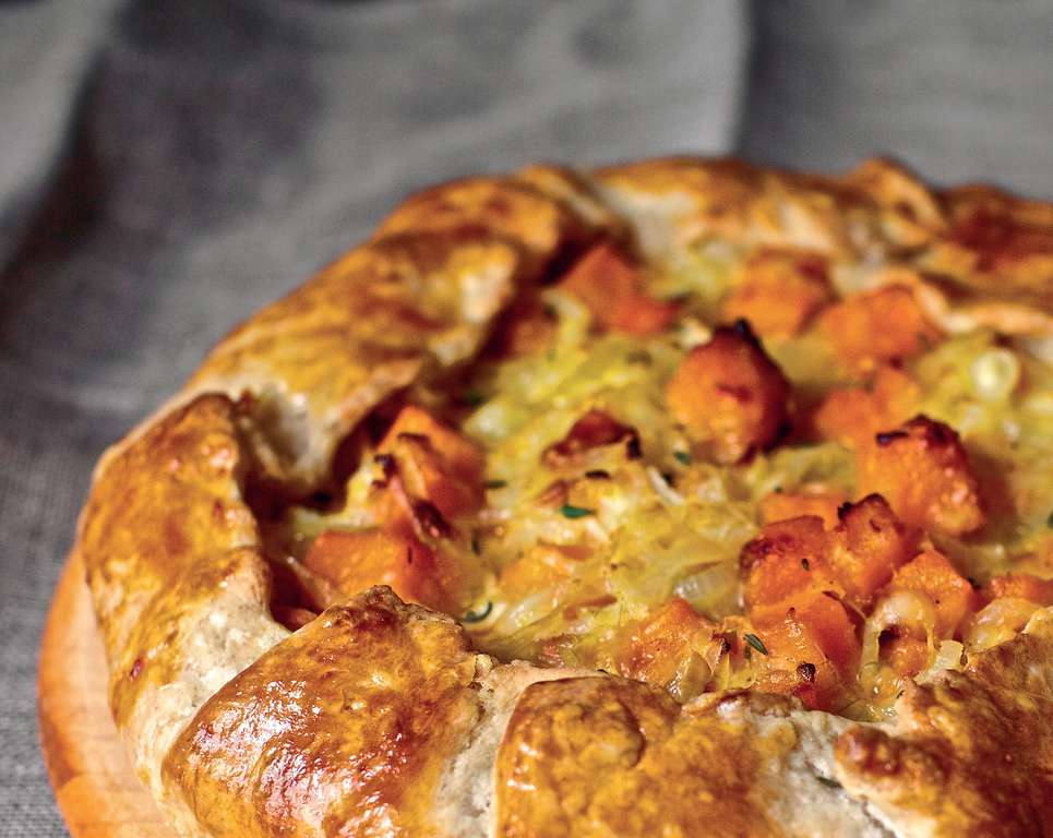 Butternut Squash and Caramelized Onion Galette - The Happy Foodie
