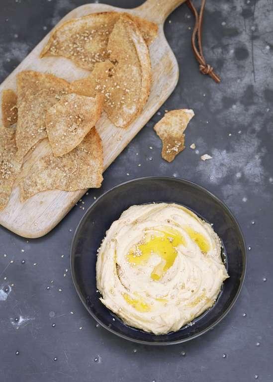 Caramelized Garlic Hummus
