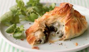 Mushroom and Gorgonzola Twists