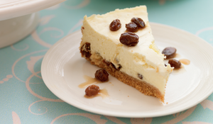 Rum and Raisin Baked Cheesecake