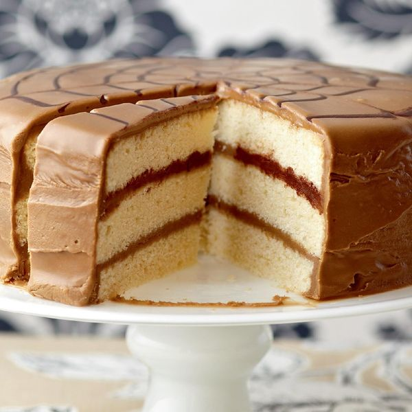Caramel Layer Cake - The Happy Foodie
