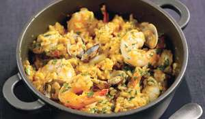 Baked Seafood and Saffron Risotto
