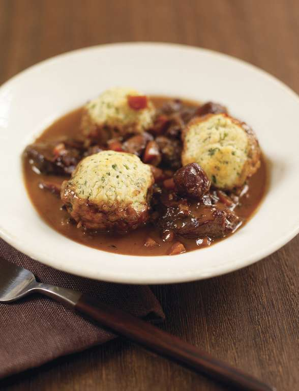 Coq Au Vin with Herby Dumplings