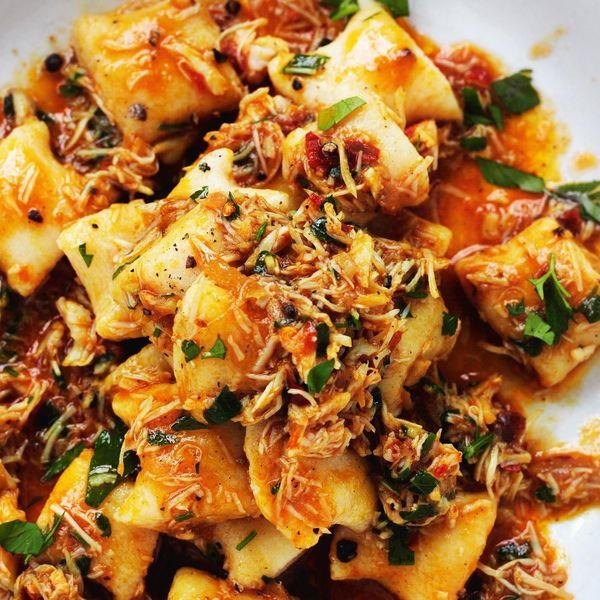 Gnocchi con granseola the happy foodie gnocchi con granseola forumfinder Choice Image